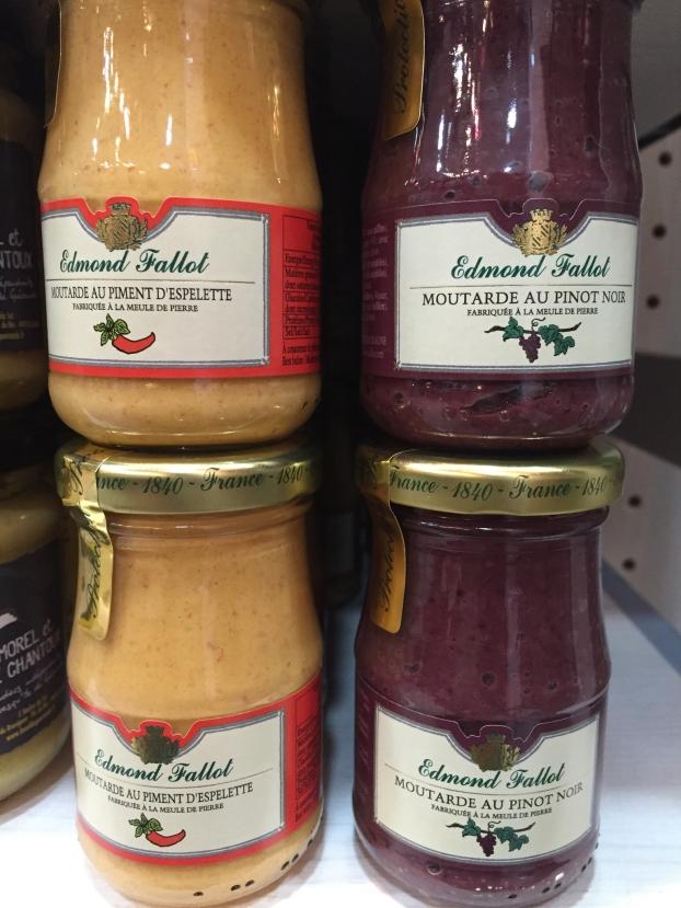Moutardes Fallot piment d'espelette ou pinot noir